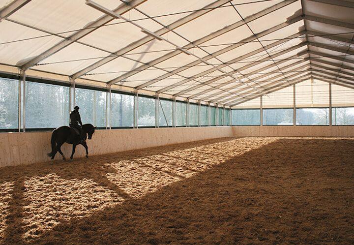 Hale z przeznaczeniem pod ujeżdżalnie dla koni